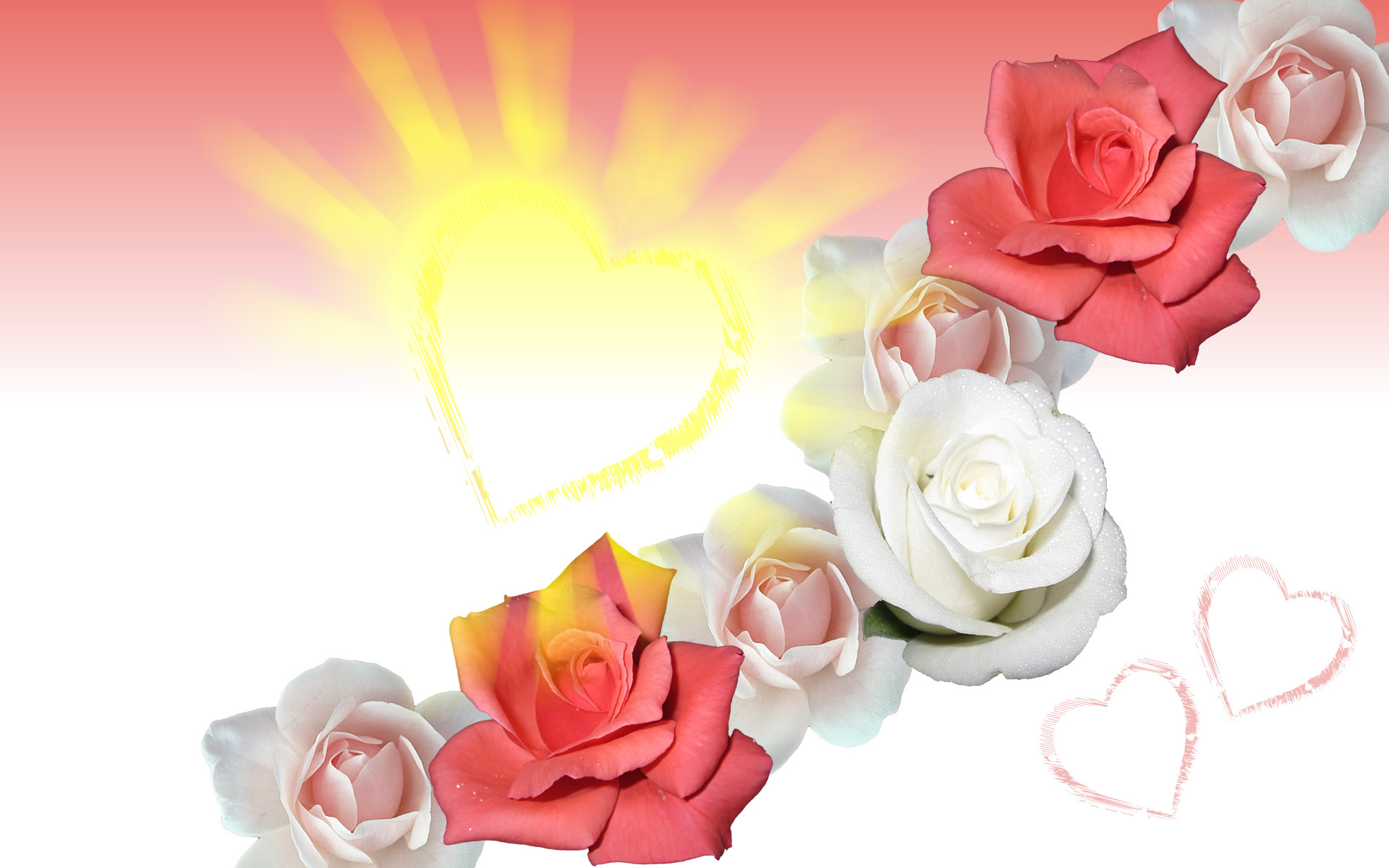 flower rose wallpaper heart of god Wallpaper nature god
