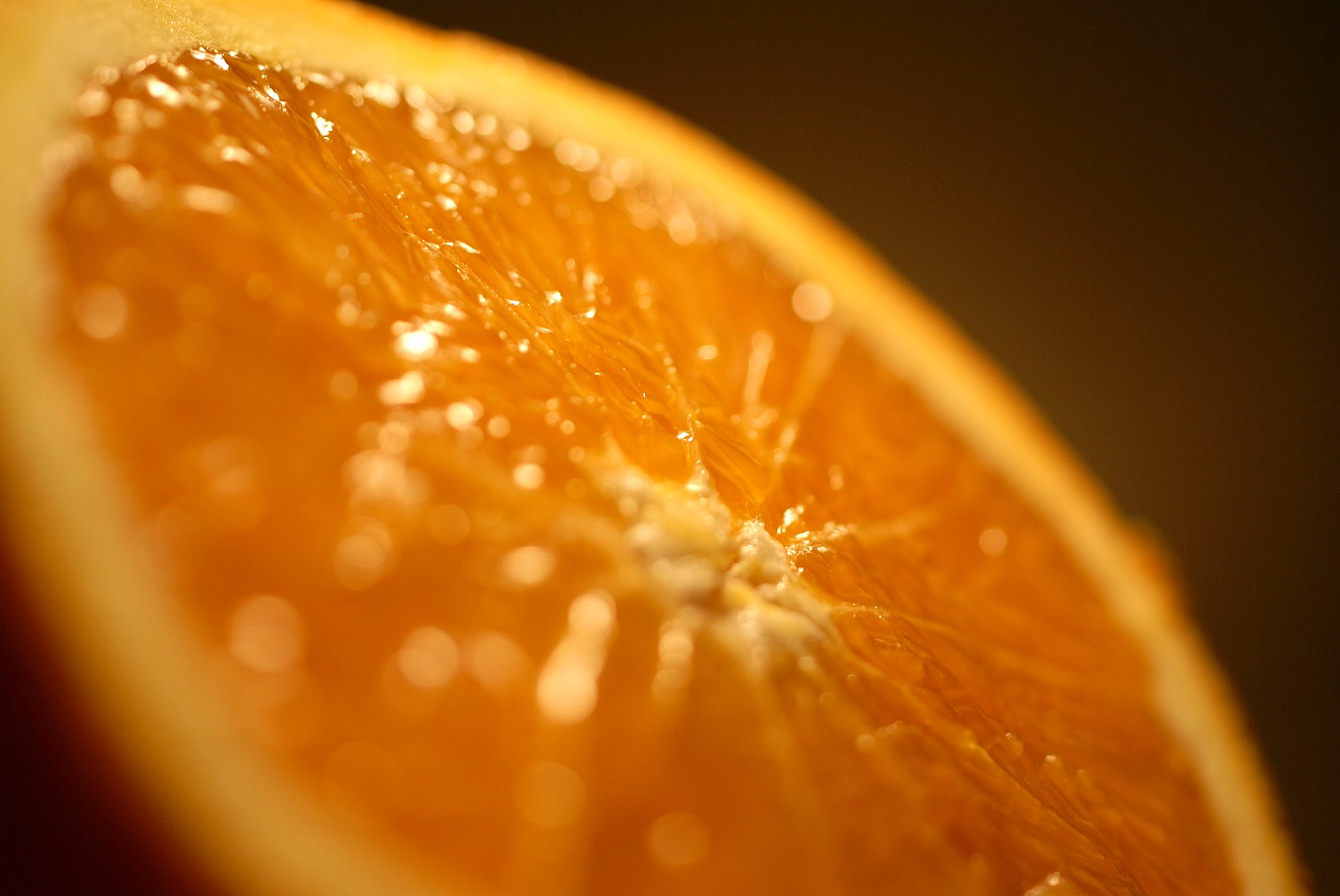 Orange macro wallpaper