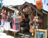 Boracay main road shops