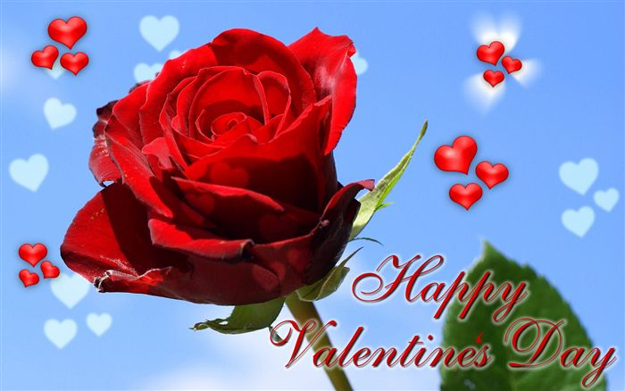 photo Romantic Happy Valentine's Day ecard