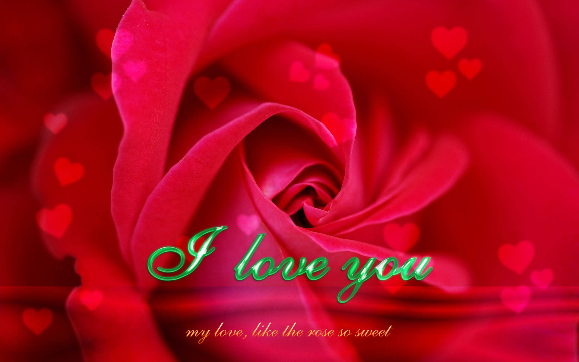 you my love like the rose so sweet a sweet rose ecard photo wallpaper ...