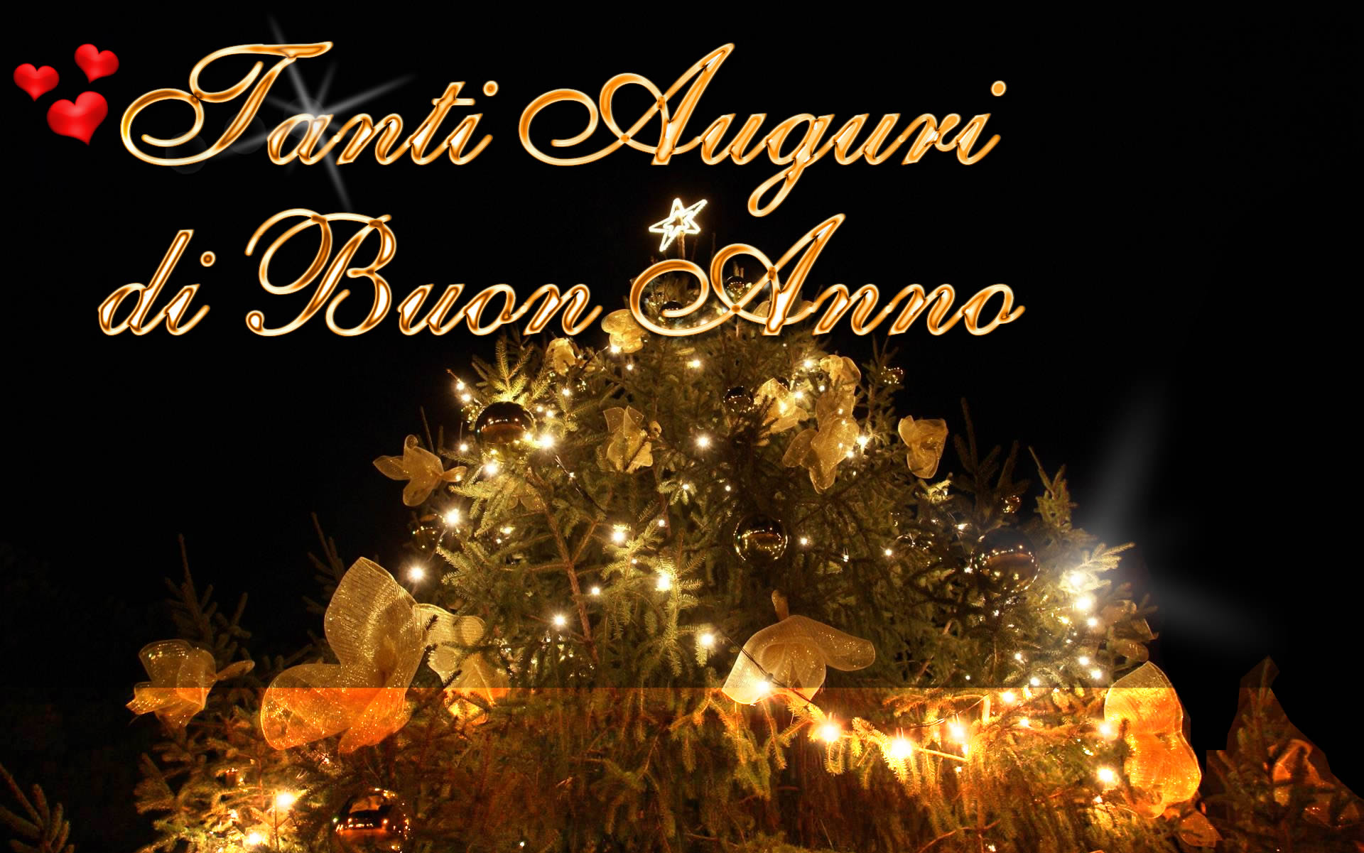 Tanti Auguri Di Buon Anno Con Albero Di Natale