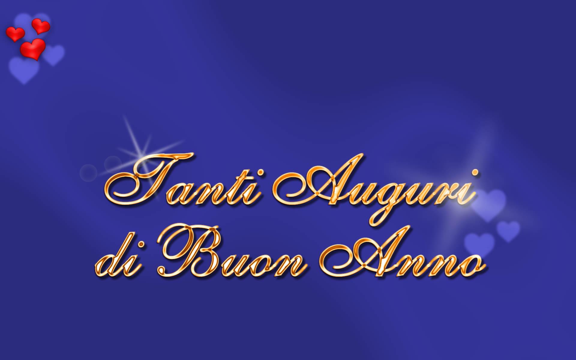 Cartoline Auguri Buon Anno Auguri di Buon Anno Sfondo Blu