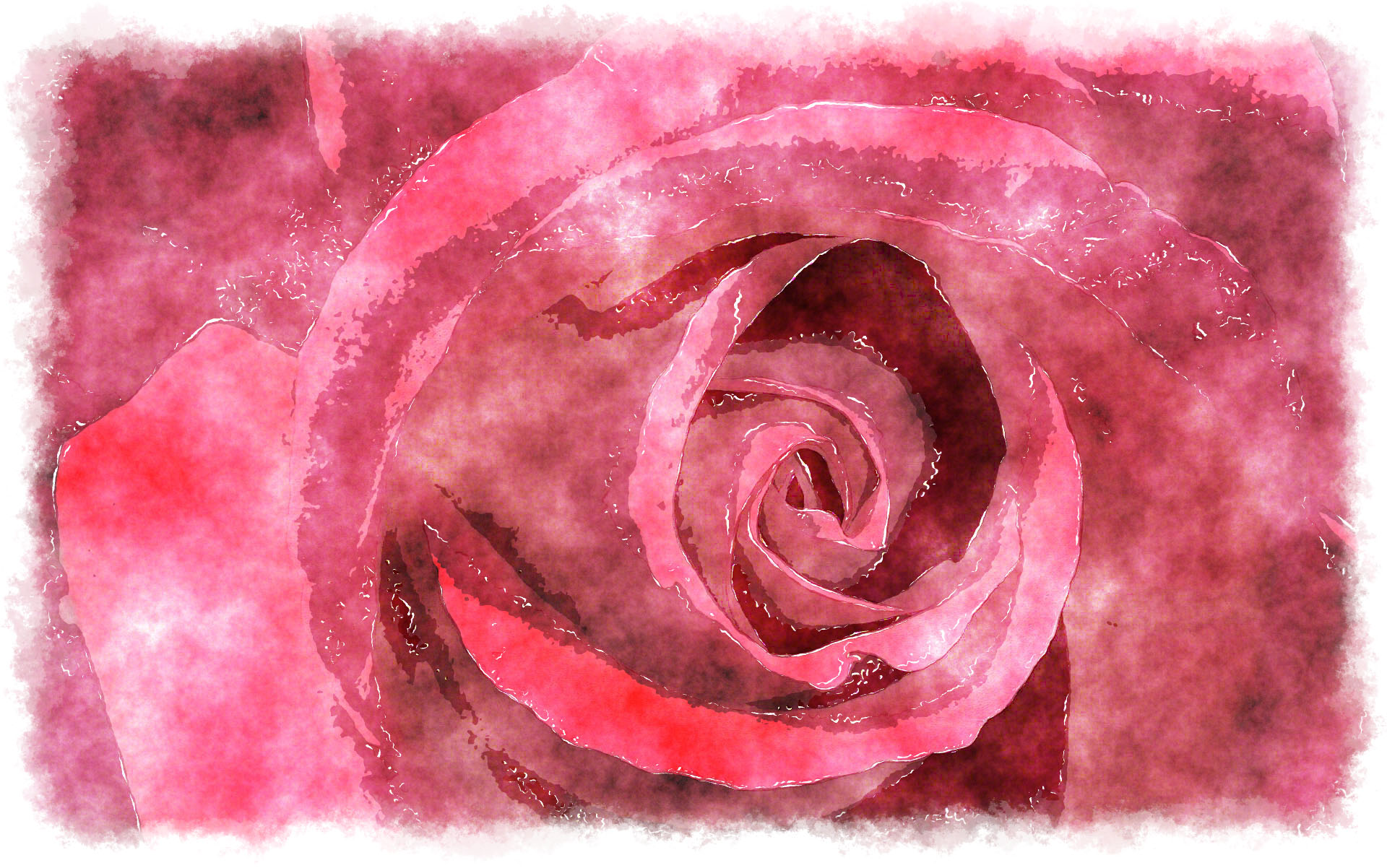Purple Watercolor Wallpaper Watercolor Purple Rose